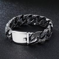 Gelang Titanium Pria Stainless Steel 316L 18mm Silver Chain Bracelet