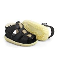 sandal anak cowok perekat umur 1 2 tahun bunyi black ANYAM