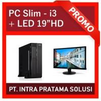 """Mini PC Core i3 + RAM 6GB + LED 19"""" (Order a/n Bpk. Victor)"""