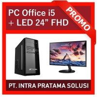 "PC Core i5 + RAM 8GB + HDD 500GB + NVidia GT730 + LED 24"""