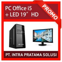 """PC Core i5 + RAM 8GB + HDD 1TB + LED 19"""" (For Office Needs)"""
