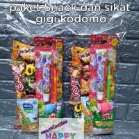 Paket souvenir ulang tahun Snack & sikat gigi kodomo