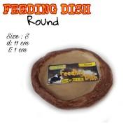 Feeding Dish Round size S-Tempat minum kura-Tempat makan kura