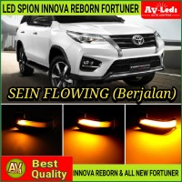 LAMPU SEIN SPION LED BAR SEQUENTIAL FORTUNER 2016 UP SRZ VRZ TRD