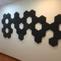busa peredam suara acoustic foam hexagon