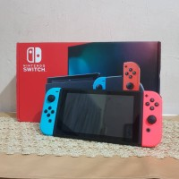 Nintendo Switch Neon V2/HAC-001(-01)/Red Box Bekas/Second