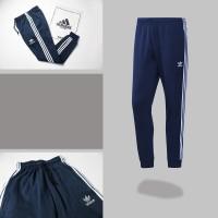 Celana Training Jogger Adidas Classic Navy Three Strip Grade Original