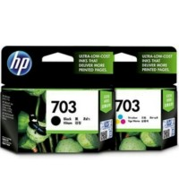 PAKETAN TINTA HP 703 BLACK DAN 703 COLOR ORI