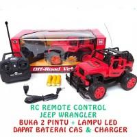 mobil remote rc jeep off road buka pintu free bungkus kado & bubble
