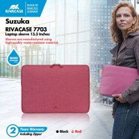 RivaCase 7703 Laptop sleeve 13 inch - Hitam