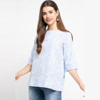 POINT ONE NAYLA Floral Blouse BLUE