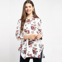 POINT ONE MALINDA Floral Blouse WHITE