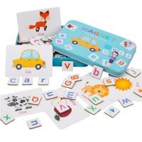 Magnetic Puzzle Alphabet / Set Mainan Edukasi Membaca dan Berhitung
