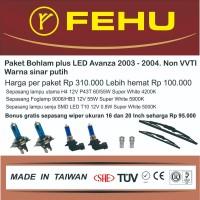 Paket bohlam plus LED Avanza non VVTI 2003 2004 Warna sinar putih