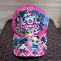 Aksesoris Kepala Anak Perempuan Topi Motif LOL Pink Original Murah
