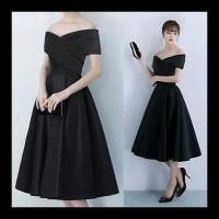 Pabrik Baju Official - Dress Sabrina Liliana Black (Cm)