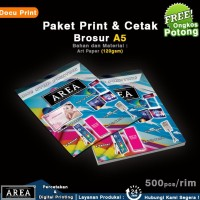 Baru Cetak Dan Print Brosur A5 Bahan Art Paper Tebal 150Gsm Glossy 1