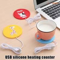 USB Power Suply Tea Coffee Cup Mug Warmer Heating Cup Mat Pad
