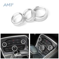 Knob Ring Cover AC Radio Switch Interior Decal Accessories Car Auto