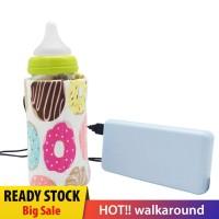 Tas Penghangat Botol Susu Bayi Portable dengan USB