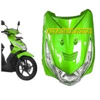 Body Depan Honda beat karbu warna Hijau + lampu depan + sen sepasang