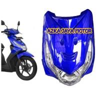 Body Depan Honda beat karbu warna biru tua+ lampu depan + sen sepasang