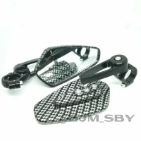 Spion Jalu Bar End Motif Carbon MOTOR UNIVERSAL