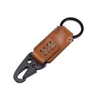 Gantungan Kunci Kulit Sapi Asli Keychain Snap hook Carabiner GK-T05