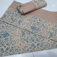 selembar kain batik cirebon bahan katun.