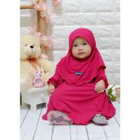 Baju muslim anak/ gamis anak syari/ baju muslim anak perempuan - Fuschia
