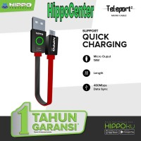 Hippo Teleport 2 Kabel Data Android Micro Usb 30cm Quick Charging