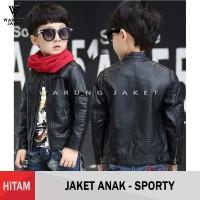 Jaket Kulit Sintetis Anak Pria Sporty WJS134 kids jacket - S
