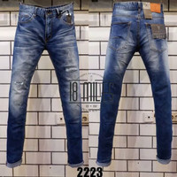 Celana Panjang Jeans Guess Blue Ripped Washed Import