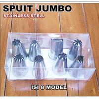 Spuit Jumbo isi 8 pcs / Dekorasi Cetakan Kue Tart dan Semprit