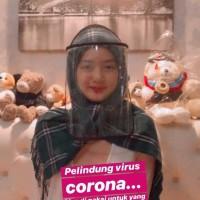 Masker plastik / topi corona / Pelindung corona / APD