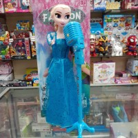 Boneka FROZEN MICROPHONE Singing Elsa Anna Mainan Boneka barbie