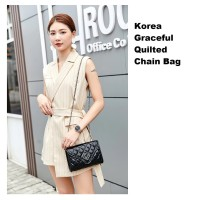 TSQ03 Korea Graceful Quilted Chain Bag / Tas Selempang Wanita