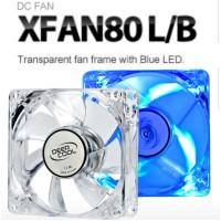Deep Cool XFAN 80L/B Blue Fan Casing komputer gaming Deepcool 80mm 8cm