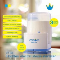Crown / 3 Bottle / Steam Sterilizer / CR 168