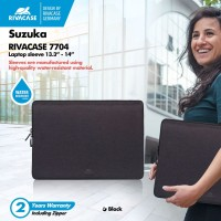 "RIVACASE Suzuka Series - 14"" Water Resist Laptop Sleeve (7704) Black"