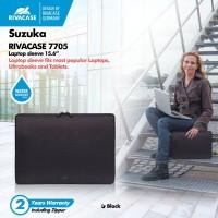 "RIVACASE Suzuka Series - 15.6"" Water Resist Laptop Sleeve (7705) Black"