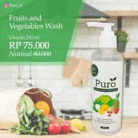 Puro Vegetable and Fruit Wash 250ml - obat pencuci sayur dan buah