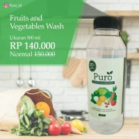 Puro Vegetable and Fruit Wash - obat pencuci sayur dan buah