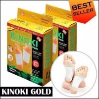 ( 1Box isi 10Pcs ) Kinoki Gold Detox Foot Pads - Koyo Kaki Kinoki Gold