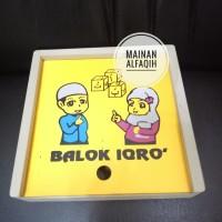 Mainan Edukasi Kayu Susun Balok Iqro'
