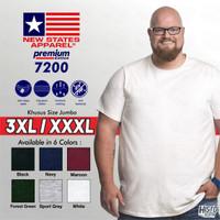 Kaos Polos NSA Premium Cotton JUMBO SIZE 3XL/ XXXL New States Apparel