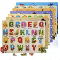 Puzzle Kayu Mainan Edukasi Anak Wooden Knob Puzzle Edukasi Anak Impor