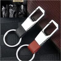 Gantungan Kunci Kulit Premium Stylish Mobil Motor / Leather Pinggang 2 - Hitam
