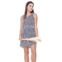 TUNIC WANITA OLD NAVY STRIPED GARIS VEE DRESS (ODN114)