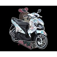 DECAL CUSTOME ITASHA/BEBAS YAMAHA XEON 125CC